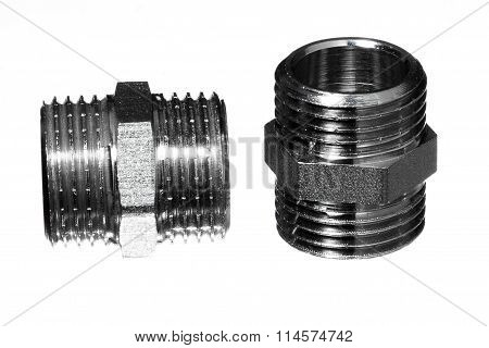 standardized pipeline fitting on white background isolated object poster