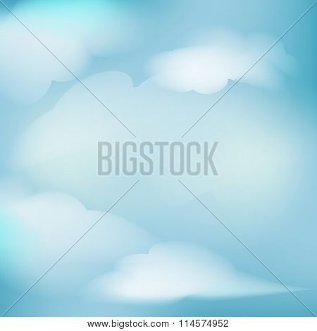 background of white cloud detail in a blue sky made using a gradient mesh