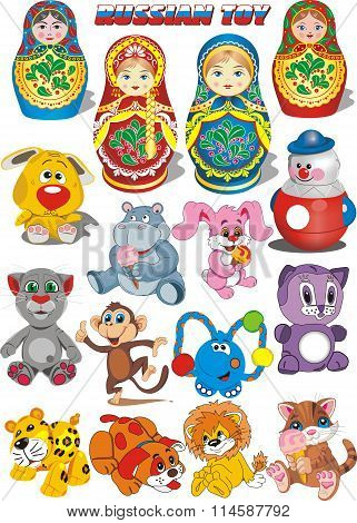 Set 16 Russian Toys [