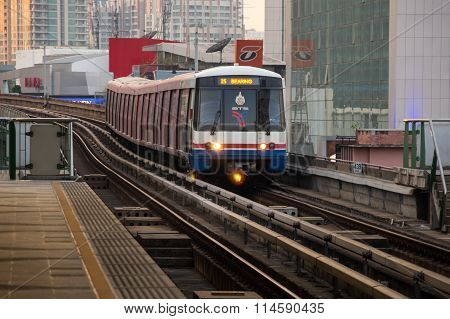 Bts Train Arriving At Station