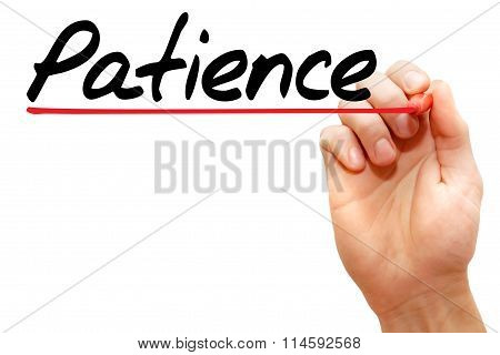 Hand Writing Patience, Concept