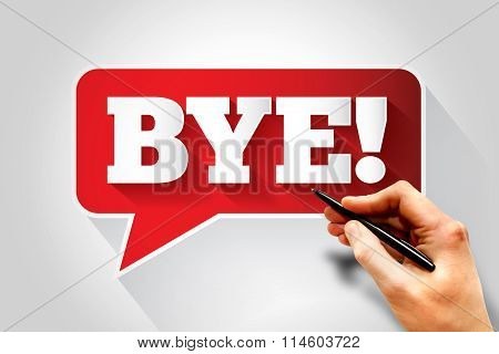 Bye Text Message