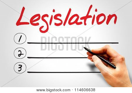 Legislation blank list business concept presentation background poster