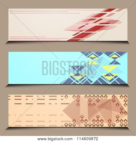 Abstract banner line design
