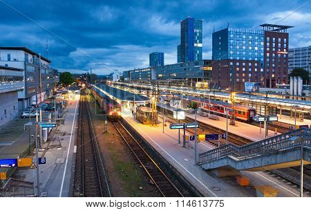 Freiburg Hauptbahnhof Railway Station, Freiburg Im Breisgau, Germany