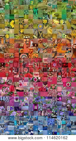 RAINBOW patchwork photo montage background