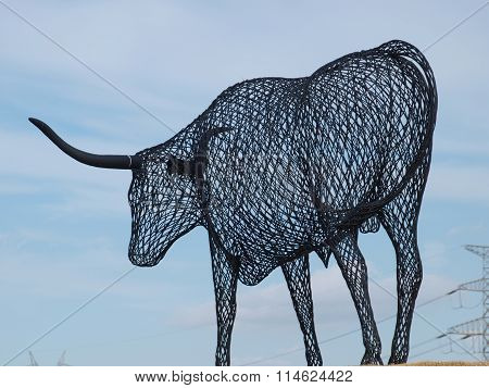 Wire Sculpture Longhorn