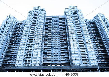 Huge multi storied apartment building in Mumbai, India