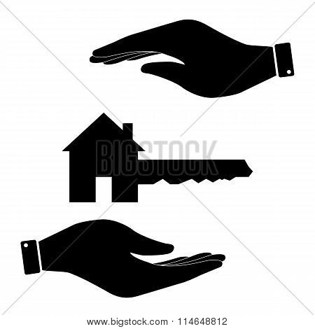 Home Key in hand icon