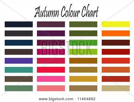 Amostra de cor de outono