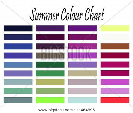 Amostra de cor de Verão