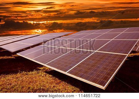 Solar Energy With Sunset