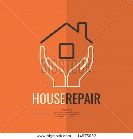 Linear Logo Home Repair