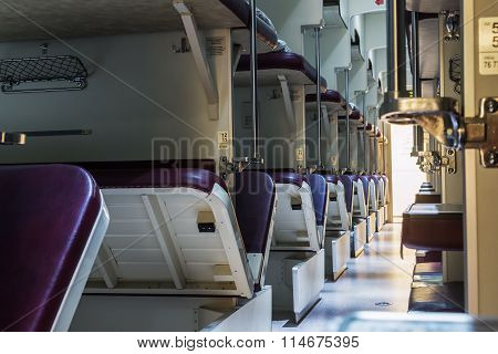 An Empty Second-class Train Russian Railways