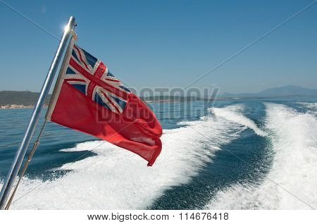 The red ensign - civilian flag for british registered ships