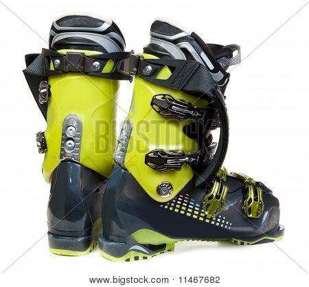 Pair Green-dark Ski Shoe