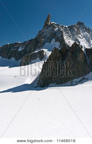 Mont Blanc - Dent Du Geant And Mer De Glace