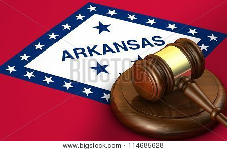Arkansas Law Legal System Concept