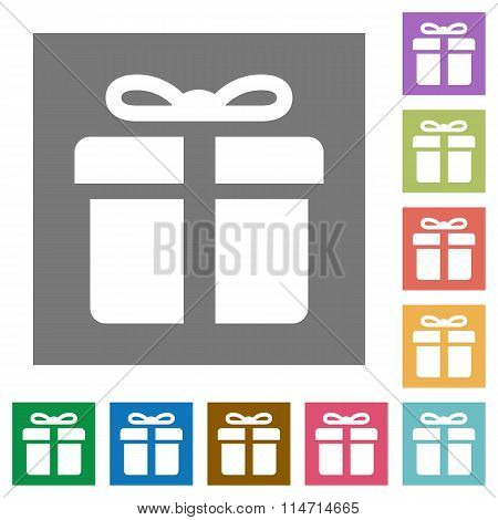 Gift Square Flat Icons