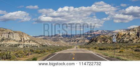 Panorama Of Scenic Byway 12 In Utah