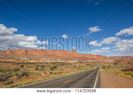 Highway 12 South Of Torrey And Capitol Reef In Utah