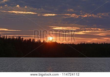 Sunset In The Alaskan Wilderness