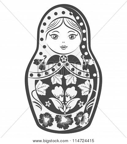 Matrioska. Russian Culture Doll. Vector Illustration