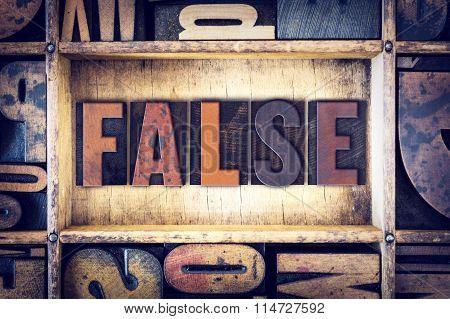 False Concept Letterpress Type