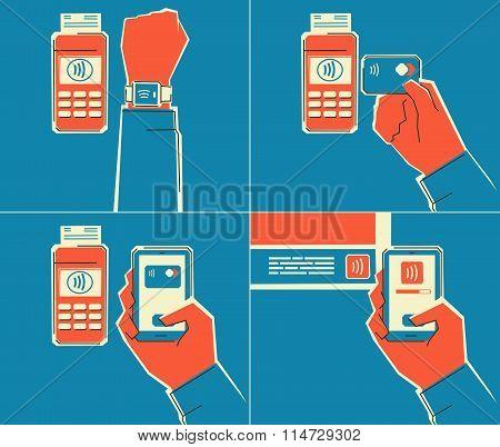 Near Field Communication technology.