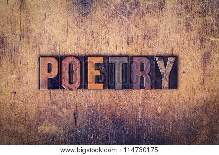 Poetry Concept Wooden Letterpress Type