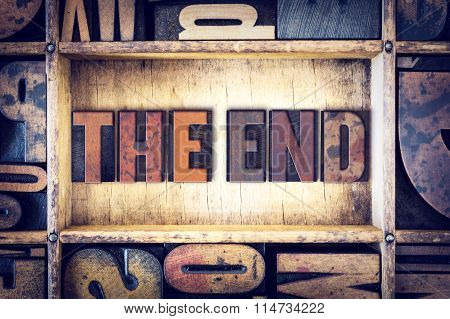 The End Concept Letterpress Type