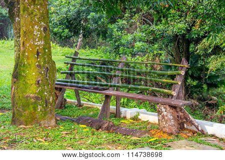 Rustic Park Bench