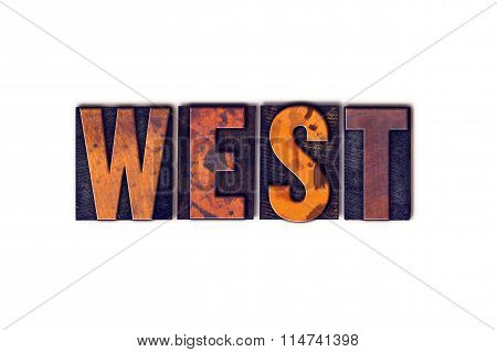 West Concept Isolated Letterpress Type