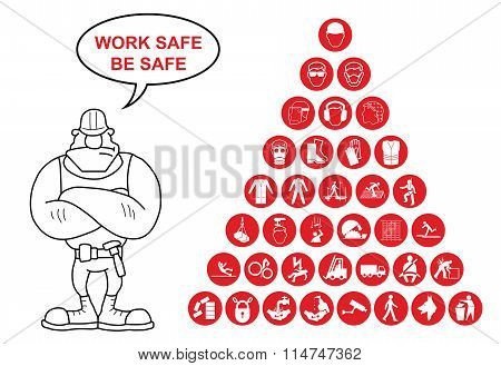 Pyramid Health and Safety Icon collection