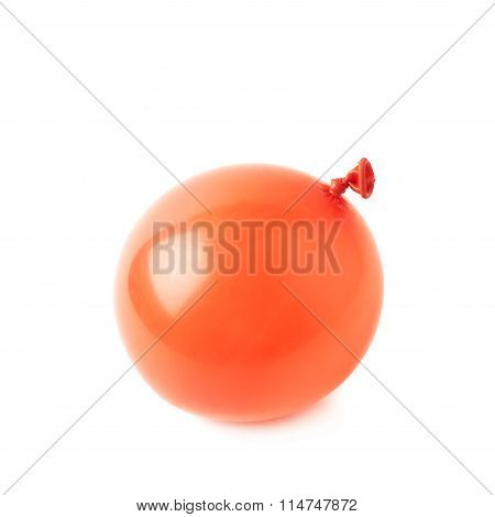 Water filled air balloon isolated
