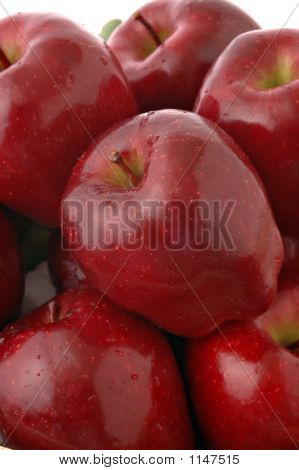 poster of a bushel of juicy red delicious apples