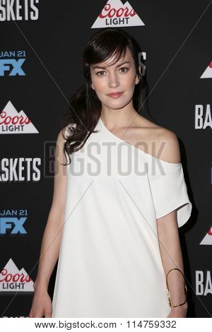 vLOS ANGELES - JAN 14:  Britt Lower at the Baskets Red Carpet Event at the Pacific Design Center on January 14, 2016 in West Hollywood, CA
