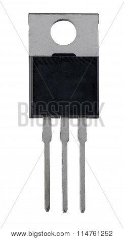 Transistor in a plastic case