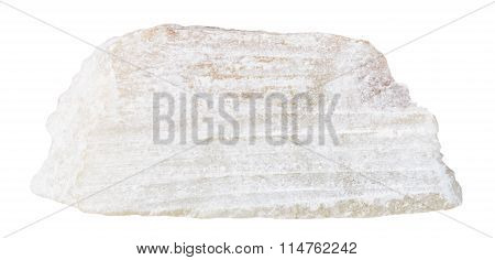 Talc Mineral Stone Isolated On White