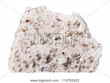 Schist Mineral Stone Isolated On White