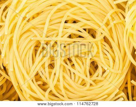 Durum Wheat Semolina Pasta Fidelini Close Up