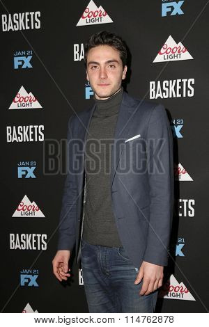vLOS ANGELES - JAN 14:  Noah Silver at the Baskets Red Carpet Event at the Pacific Design Center on January 14, 2016 in West Hollywood, CA