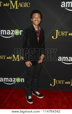 vLOS ANGELES - JAN 14:  Judah Bellamy at the Just Add Magic Amazon Premiere Screening at the ArcLight Hollywood Theaters on January 14, 2016 in Los Angeles, CA