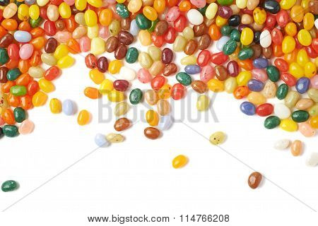 Multiple jelly beans isolated