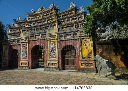 Inside The Citadel. Imperial Forbidden City. Hue, Vietnam.