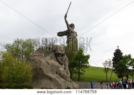 The Monument Of Grieving Mother. Volgograd, Russia