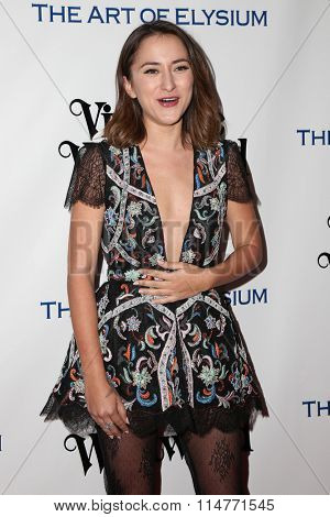 vLOS ANGELES - JAN 9:  Zelda Williams at the The Art of Elysium Ninth Annual Heaven Gala at the 3LABS on January 9, 2016 in Culver City, CA