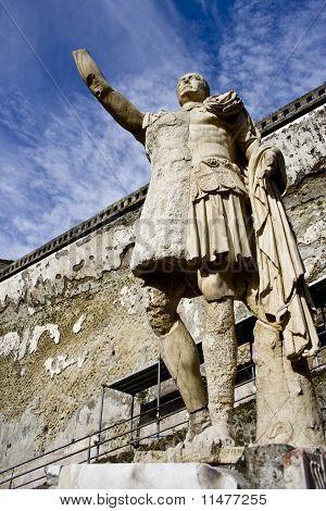 Statue of Nonius Balbus at the Herculaneum archeological site Ercolano
