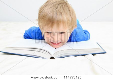 little boy having fun during studying