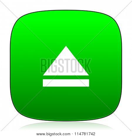 eject green icon for web and mobile app
